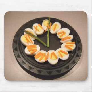 Deviled Egg Clock with Roman Numerals Mouse Pad
