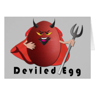 'deviled egg' funny egg humorous card