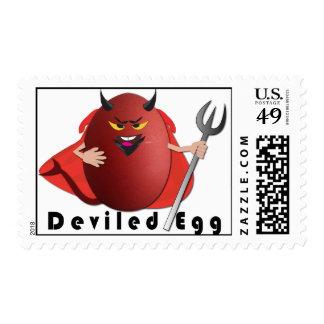 'deviled egg' funny egg humorous postage