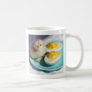Deviled Eggs and the Chick Classic White Coffee Mug