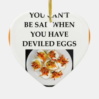 DEVILED eggs Ceramic Ornament