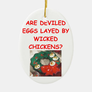 deviled eggs christmas ornaments
