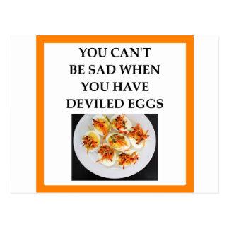 DEVILED eggs Postcard
