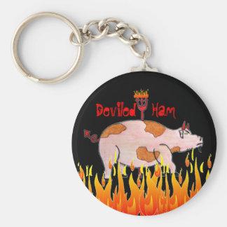 Deviled Ham Basic Round Button Keychain