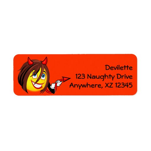 Devilette Smiley Return Address Label
