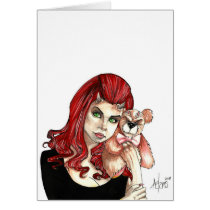 multiple, products, selected, goth, gothic, fantasy, horror, dark, devil, demon, angel, artofjamesadams, illustration, goddess, witch, pinup, fine, art, line, pen, ink, wash, color, voluptuous, cleavage, models, adult, vampire, succubus, horns, dolls, darkness, emotional, melodramatic, female, hot, gorgeous, beautiful, Card with custom graphic design