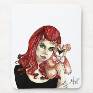 DevilGirl and her Teddy Mouse Pad