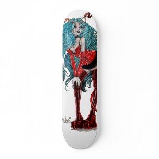 DevilGirl pinup skateboard