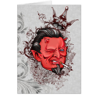 Devilish Anti-Valentine Card
