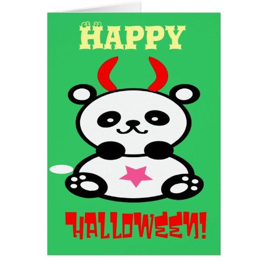 ♫♥Devilish Cute BabyPanda Custom Greeting Card♥♪ Card