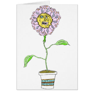 Devilish Daisy Flower Card