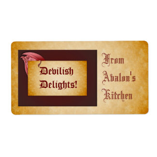 Devilish Delights Halloween Treats Baking Label