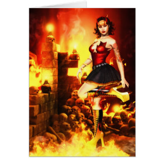 Devilish Glamour Greeting/Note Card