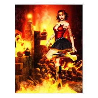 Devilish Glamour Postcard