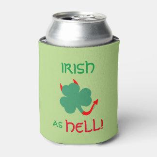 Devilish Irish Shamrock Does A Jig Can Cooler