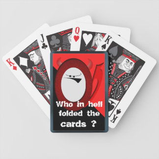 Devilish question bicycle playing cards