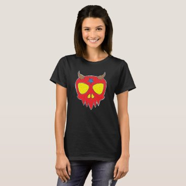 Halloween Themed Devilish Skull Design T-Shirt