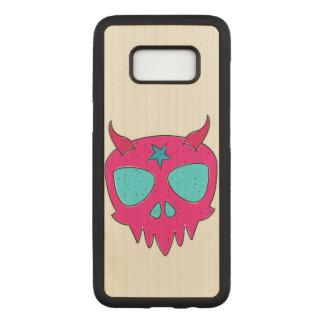 Devilish Skull Illustration Carved Samsung Galaxy S8 Case
