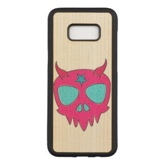 Devilish Skull Illustration Carved Samsung Galaxy S8+ Case