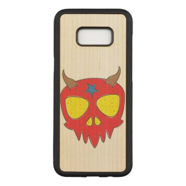 Halloween Themed Devilish Skull Illustration Carved Samsung Galaxy S8  Case
