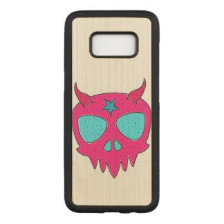 Devilish Skull (pink) Carved Samsung Galaxy S8 Case