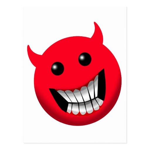 Devilish Smile Postcard