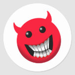 Devilish Smile Round Stickers