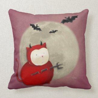 Devill Kitty Throw Pillows