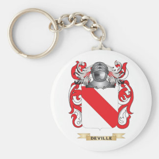 Deville Coat of Arms Keychain