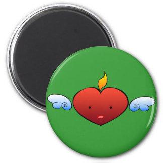 Deville Heart 2 Inch Round Magnet