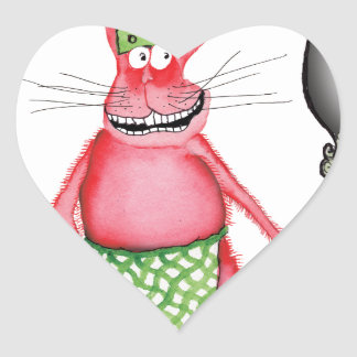 devilled cat 3, tony fernandes heart sticker