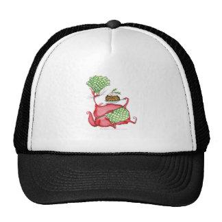 devilled cat with xmas pud, tony fernandes trucker hat