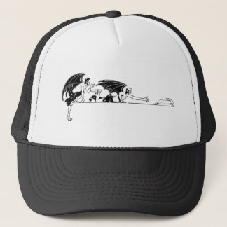 Devils And a Rabbit Trucker Hat