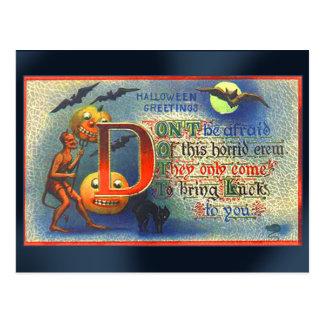 Devils and Bats Halloween Card