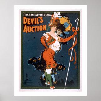 """""""Devil's Auction"""" Vaudeville Print"""