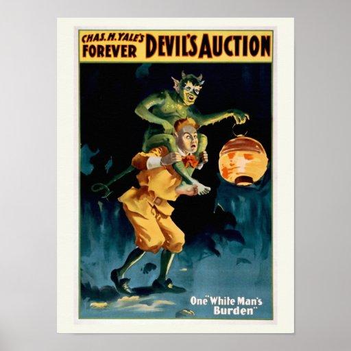 """""""Devil's Auction"""" Vintage Theater Poster"""
