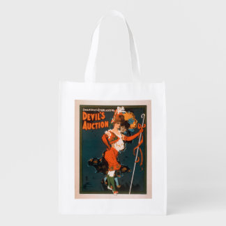 Devil's Auction Woman in Costume Theatre 2 Grocery Bag