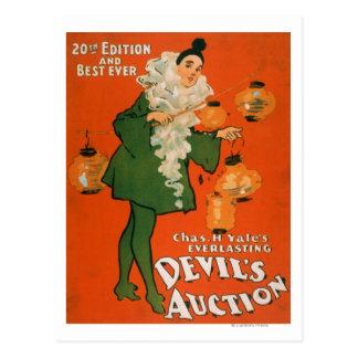 Devil's Auction Woman in Costume Theatre 2 Postcards