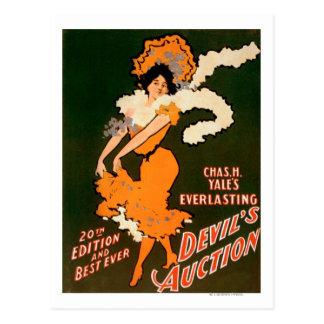 Devil's Auction Woman in Costume Theatre Postcards