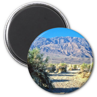 Devil's Cornfield And Panamint Mountains Refrigerator Magnet