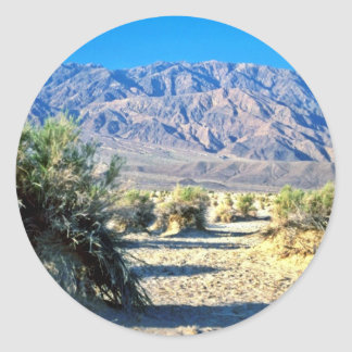 Devil's Cornfield And Panamint Mountains Round Stickers