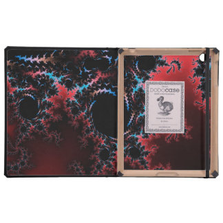 Devil's Dance - red and blue fractal art Cover For iPad