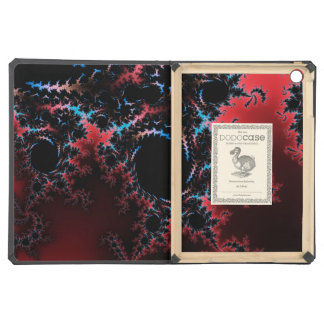 Devil's Dance - red and blue fractal art Cover For iPad Air