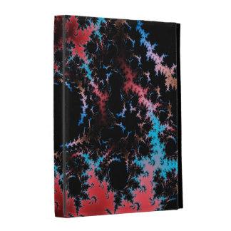 Devil's Dance - red and blue fractal art iPad Case