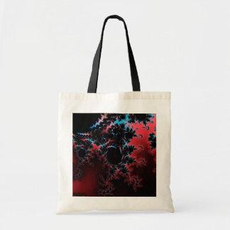 Devil's Dance - red and blue fractal art Tote Bag