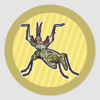 Devil's Flower Mantis Classic Round Sticker