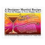 Devil's Food Cake Martini Recipe Card Postcard
