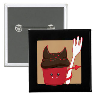 Devils Food Cupcake 2 Inch Square Button