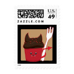 Devils Food Cupcake Postage Stamps