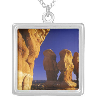 Devils Garden in the Grand Staircase Escalante Silver Plated Necklace